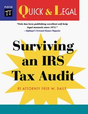 Cover of: Surviving an IRS tax audit