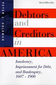 Cover of: Debtors and creditors in America