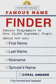 Cover of: Random House famous name finder