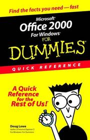Cover of: Microsoft Office 2000 for Windows for dummies: quick reference