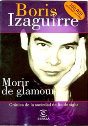Cover of: Morir de glamour