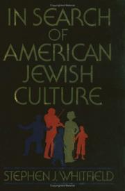Cover of: In search of American Jewish culture