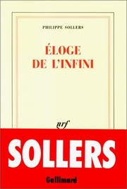 Cover of: Eloge de l'infini