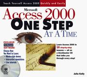 Cover of: Microsoft Access 2000 one step at a time