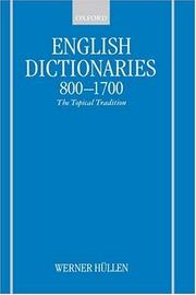 Cover of: English dictionaries, 800-1700