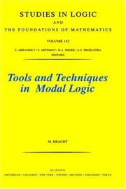 Cover of: Tools and techniques in modal logic