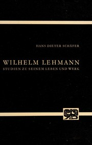 Cover of: Wilhelm Lehmann
