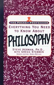 Cover of: Everything you need to know about philosophy