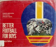 Cover of: Better football for boys