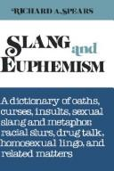 Cover of: Slang and euphemism