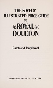 Cover of: Illustrated price guide to Royal Doulton