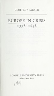 Cover of: Europe in crisis, 1598-1648