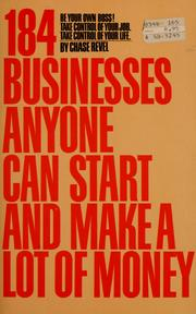 Cover of: 184 businesses anyone can start and make a lot of money