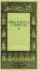 Cover of: Obra poética completa