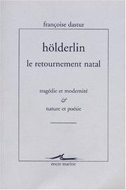 Cover of: Hölderlin, le retournement natal