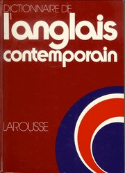 Cover of: Dictionnaire de l'anglais contemporain