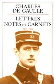 Cover of: Lettres, notes et carnets