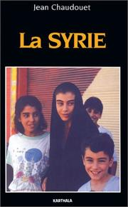 Cover of: La Syrie