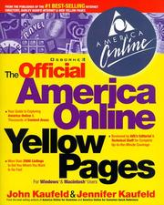 Cover of: The official America Online yellow pages