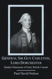 Cover of: General Sir Guy Carleton, Lord Dorchester