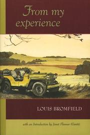 Cover of: From my experience: the pleasures and miseries of life on a farm