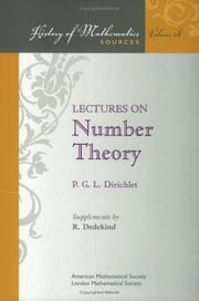 Cover of: Lectures on number theory