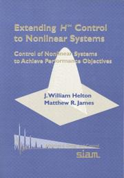 Cover of: Extending H [superscript infinity symbol] control to nonlinear systems