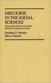 Cover of: Discourse in the social sciences