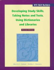 Cover of: Developing study skills, taking notes and tests, using dictionaries and libraries