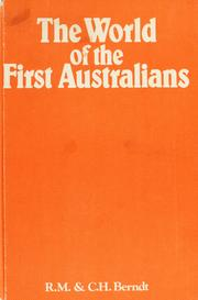 Cover of: The world of the first Australians