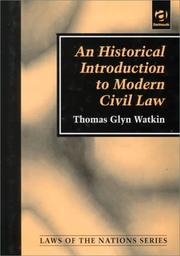 Cover of: An historical introduction to modern civil law
