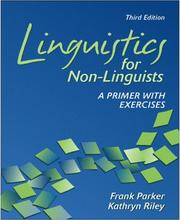 Cover of: Linguistics for non-linguists