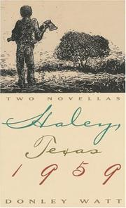 Cover of: Haley, Texas 1959