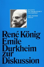 Cover of: Emile Durkheim zur Diskussion