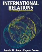 Cover of: International relations: the changing contours of power