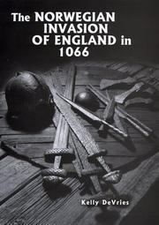 Cover of: The Norwegian invasion of England in 1066