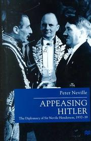 Cover of: Appeasing Hitler