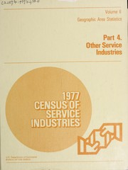 Cover of: 1977 census of service industries