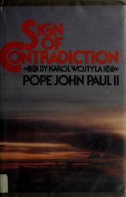 Cover of: Sign of contradiction