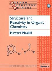 Cover of: Structure and reactivity in organic chemistry