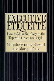 Cover of: Executive etiquette
