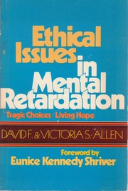 Cover of: Ethical issues in mental retardation