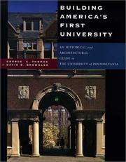 Cover of: Building America's first university