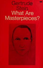 Cover of: What are masterpieces