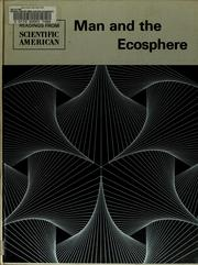 Cover of: Man and the ecosphere