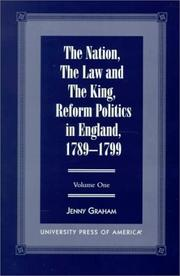 Cover of: The nation, the law, and the king