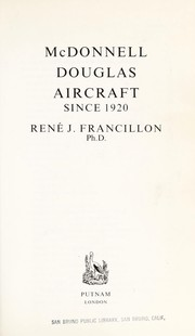 Cover of: McDonnell Douglas Aircraft since 1920