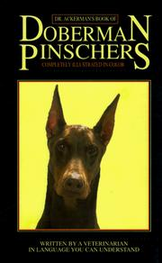 Cover of: Dr. Ackerman's book of the Doberman pinscher