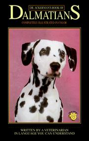 Cover of: Dr. Ackerman's book of Dalmatians