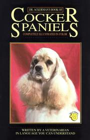 Cover of: Dr. Ackerman's book of cocker spaniels